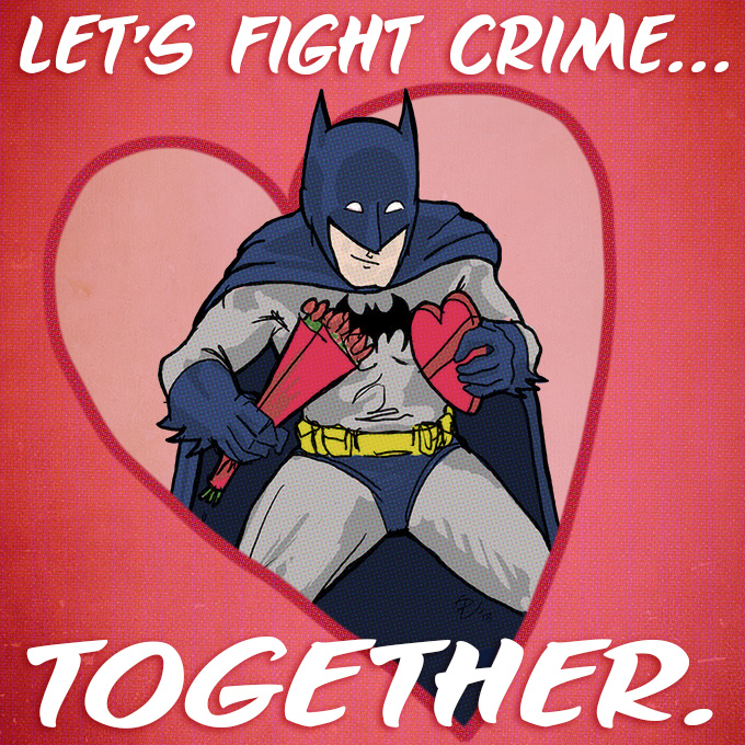 Batman Valentine's Day Card, Paul Watson, 2013