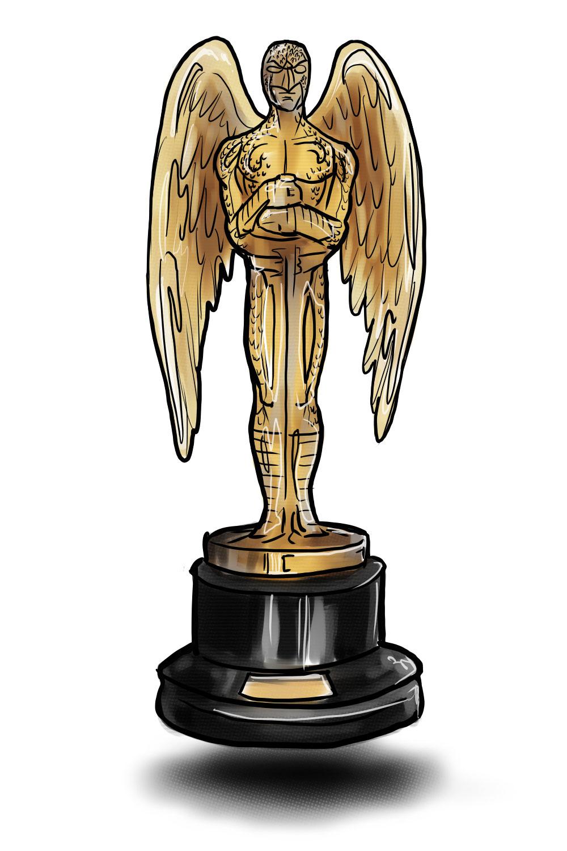 Birdman Oscars statue by Paul Watson