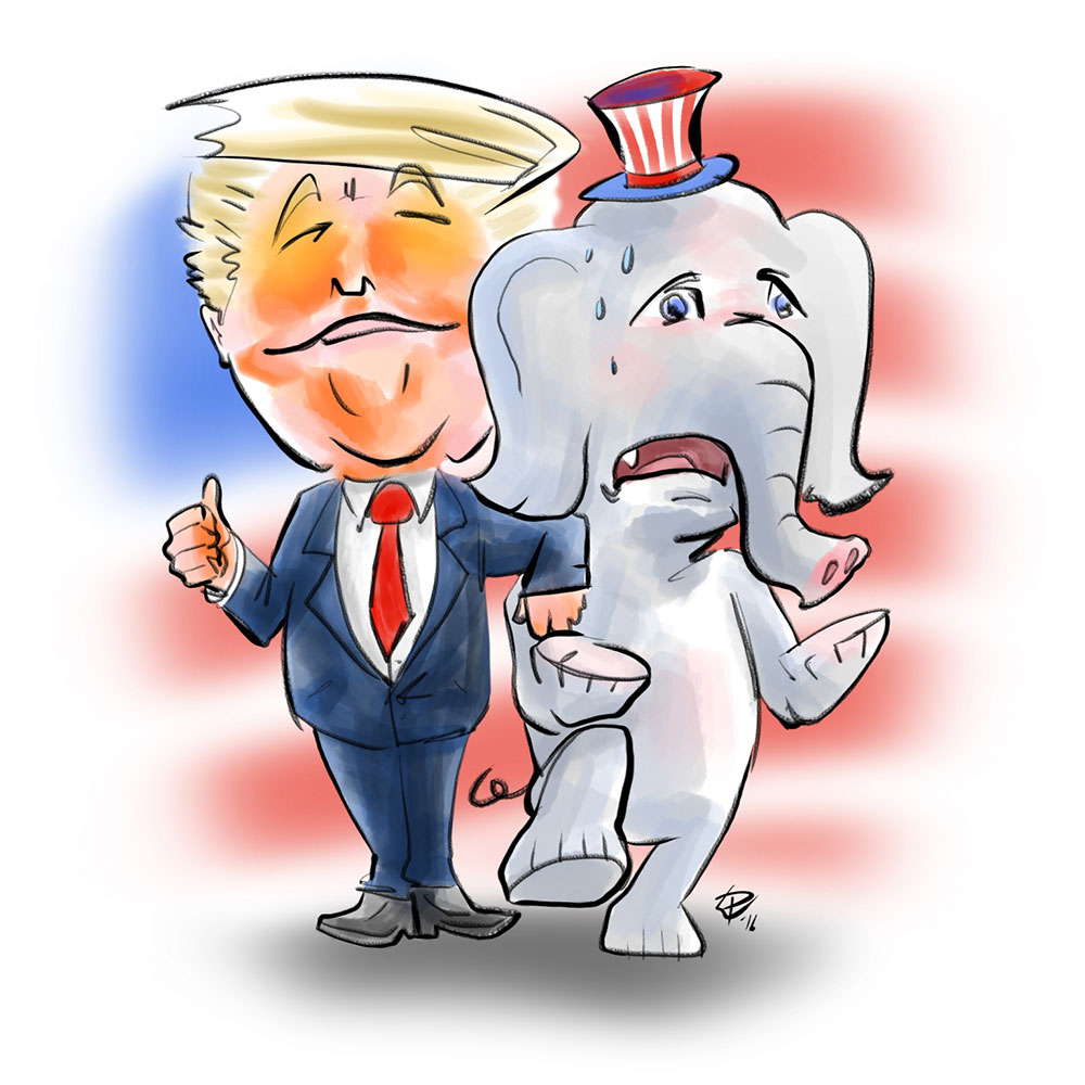 Donald Trump and the Republican elephant