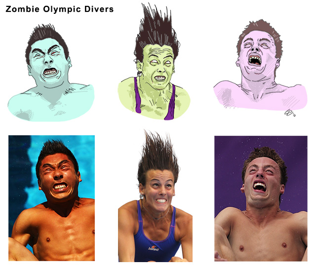 Zombie Olympic Divers, Paul Watson 31-07-12