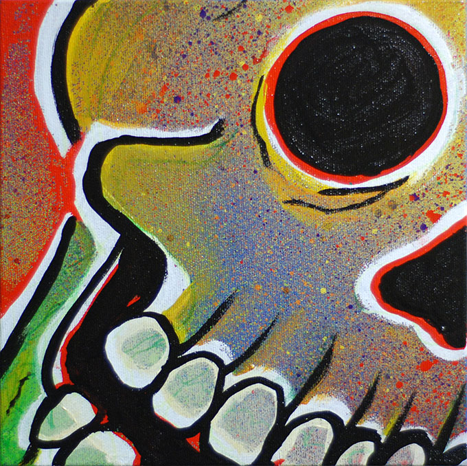 Skull painting, Paul Watson