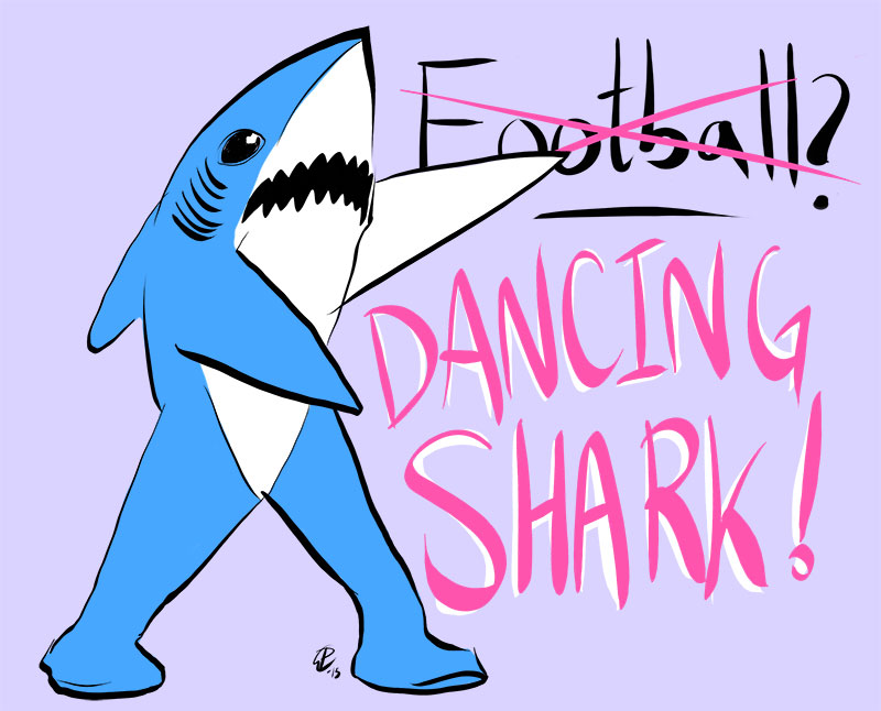 Dancing Superbowl shark